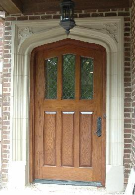 Tudor Plank Half-Light Oak Door