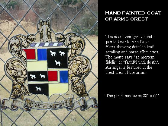 Coat of arms in stained glass and painted glass