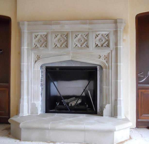 Tudor artisans example fireplaces for Tudor style fireplace
