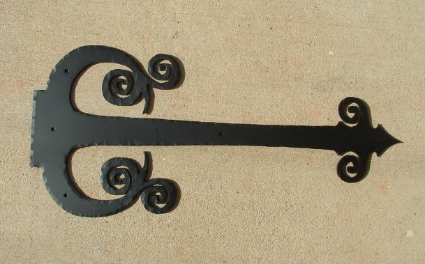 Large Tudor Curly Strap Hinge