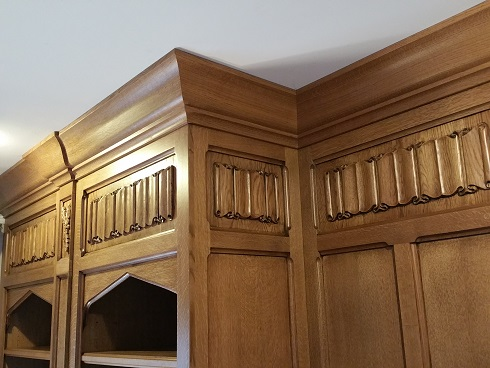 Tudor Library Quartsawn Oak Paneling Detail
