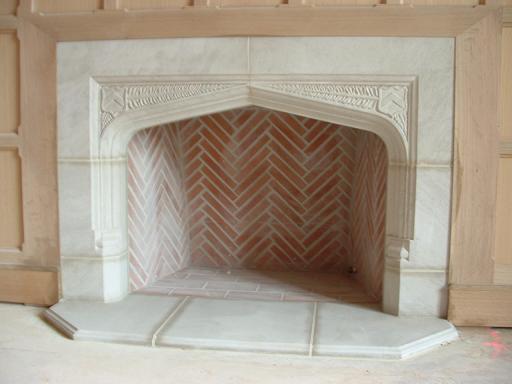 Tudor artisans example fireplaces for Tudor style fireplace