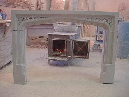 Tudor Limestone Fireplace - Inspired by Leeds Castle