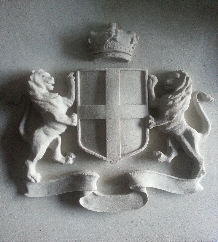 Our last cast stone Stndard Coat of Arms